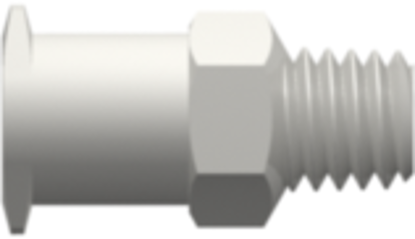 Female Luer Lug Style with 1/4in Hex to 10-32 Special Tapered Thread White Nylon