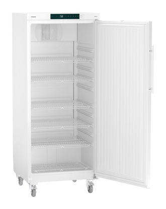 LKv 5710 Laboratory Refrigerator with Comfort Controller, Volume 583 L, Dynamic Cooling, Dimension 747 x 750 x 1844 mm, White Steel Cabinet Finish