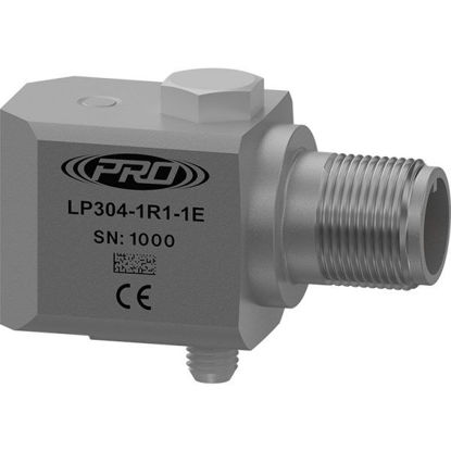 Model: LP304-20R4-1E - Loop power sensor, acceleration, side connector, 4-20 mA output, acceleration; Measurement Range: 0-20 g; Range Type: RMS; Frequency Range: 180-300000 CPM (3-5000 Hz); Standard 1/4 28 Mounting Screw
