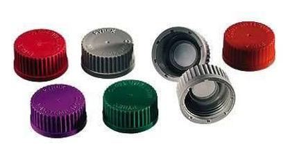 Kimax 14395C-45 Replacement Cap for Media Bottles, PP, blue, 10/cs