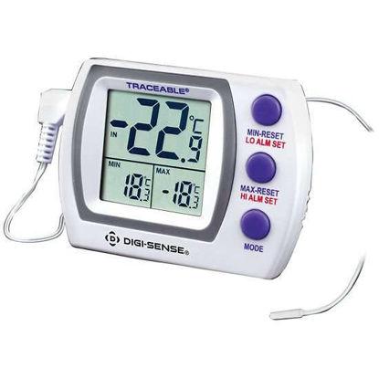Digi-Sense Traceable® Jumbo Refrigerator/Freezer Thermometer with Calibration; Wire Probe