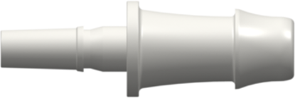 Male Luer to 500 Series Barb 1/4in (6.4 mm) ID Tubing (May be used with separate rotating lock ring FSLLR) White Nylon