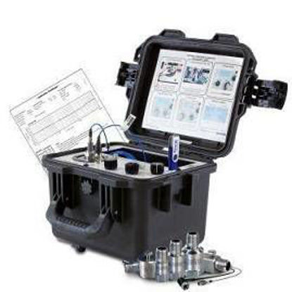 Portable Vibration Calibrator, includes on-board ICP® & Voltage input, adjustable frequency range (7 Hz-10 kHz) and amplitude. LCD displays English or metric units, with on-board memory, USB flash drive data storage.