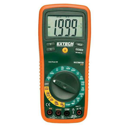 Extech EX410 DMM with Temperature (Type K) 0.5% Accuracy