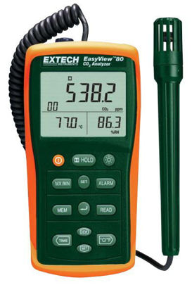 Extech EA80 Easy View Indoor Air Quality Meter, datalogging