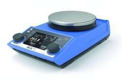 Safety magnetic stirrer RET control-visc white with heating and integr.balance enamel plate