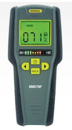 General Tools MMD7NP Pinless Digital Moisture Meter with Tricolor Bar Graph