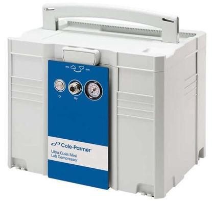 Cole-Parmer Ultra-Quiet 42 LPM, 53 dB, Mini Lab Compressor
