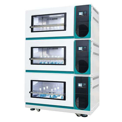 Lab Companion ISS-7100R Stackable Refrigerated Incubated Shaker, 7 cu ft, 230V, 50H