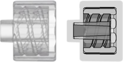 Male Luer Integral Lock Ring Plug Closed at Grip Natural Kynar PVDF