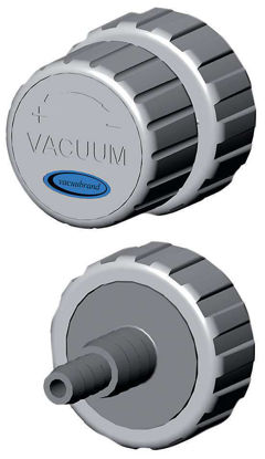 VACUU·LAN®  manual flow control module for hoods    VCL AR with connecting part A5, M35 x 1,5 and basic part B8, valve with yellow rotary knob, module consisting of [A5, C9] + [B8, C2]