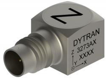 Model: 3273A1 - 4-pin side connector, adhesive mount, miniature, low noise 500g range, 10 mV/g