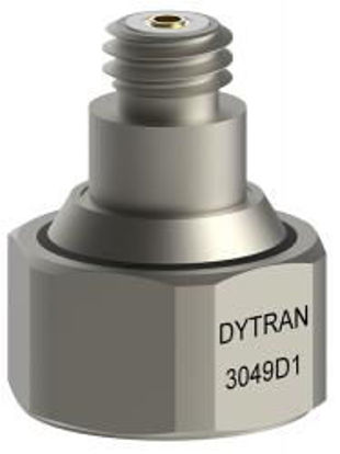 Model: 3049D1 - 10-32 top connector, adhesive mount, low profile, isolated 5.8 pC/g