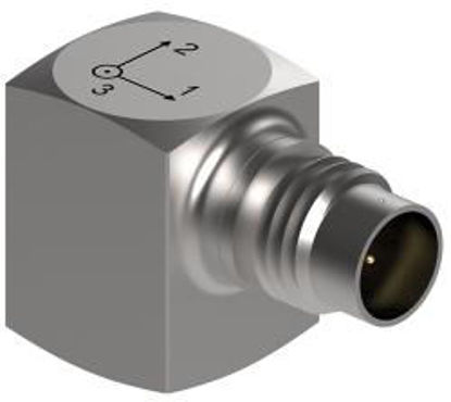 Model: 3023A6H - 4-pin side connector, 10-32 mounting stud, miniature, high temperature 1000g range, 5 mV/g