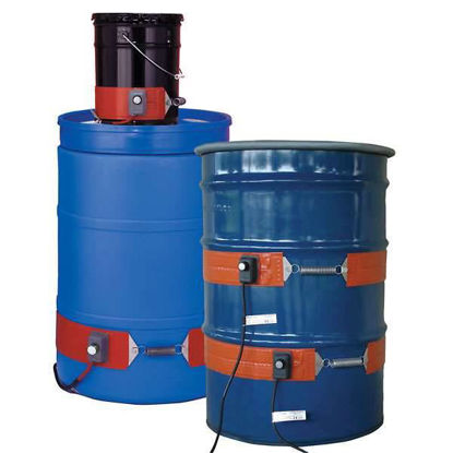 Flexible 55-Gal Metal Drum Heater with Thermostat; 50-425F, 240V
