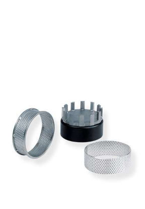 Sieve rings made of stainless steel 0.75 mm trapezoidal perforation