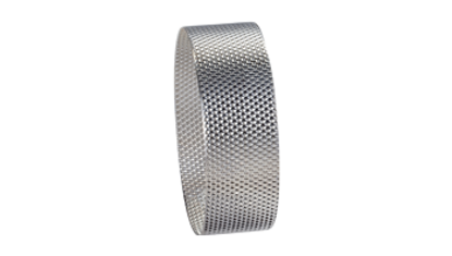 Sieve rings made of stainless steel for impact bar sieve ring 0.12 mm trapezoidal perforation