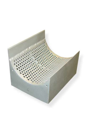 Sieve cassettes made of chromium-free steel DC01  2 mm trapezoidal perforation