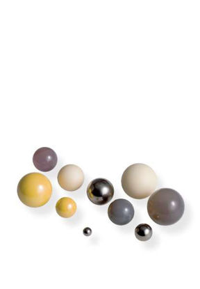 Grinding balls 5 mm dia. for grinding bowls 500 ml, 250 ml, 80 ml, 45 ml, 20 ml, 12 ml agate, polished (100g Package)