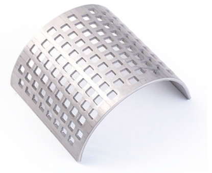 Sieve inserts made of stainless steel 316L 4 mm square perforation