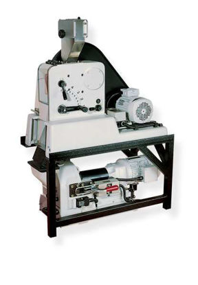 mounting rack for combined use of PULVERISETTE 1 classic line with the Disk Mill PULVERISETTE 13 classic line