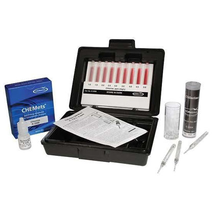 Chemetrics K-2504 Test Kit Chlorine 0 to 1, 1 to 5 ppm Range s