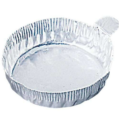 Cole-Parmer 28 mm Aluminum Crimpled-Walled Weighing Dishes with Tab, 8 ml, 500/Cs