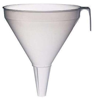 Large industrial-size polypropylene funnel, 10 L