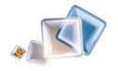 Cole-Parmer medium Square Polystyrene Weigh Boats, Blue, 100 mL, 100/Pk