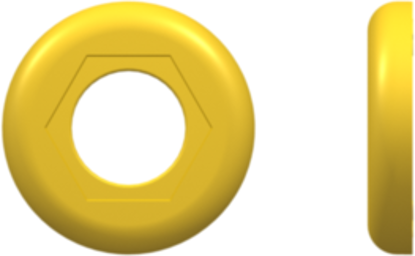 Color Coded Ring (For use with FTLLB or FTLB ) Yellow Nylon