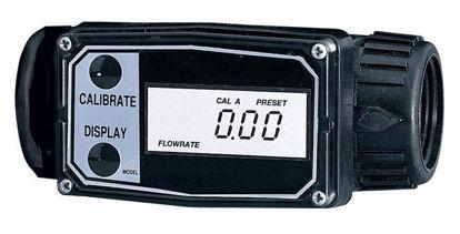 """Flowmeter/Totalizer, 1 to 10 LPM, 1"""" NPT(F), Aluminum"""