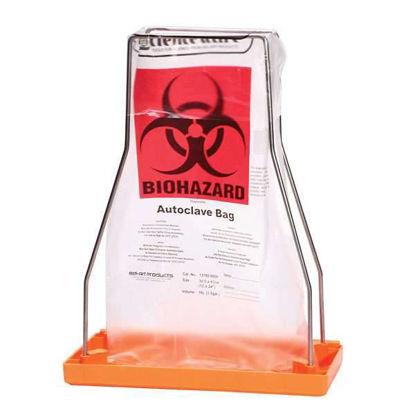 "Scienceware 12 gal HDPE Biohazard Bags w/ Sterilization Patch, 24 x 30""; 100/cs"