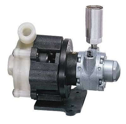Air-Powered Centrifugal Pump, SS Head; 18 GPM/50 ft, 60 psi/7 scfm