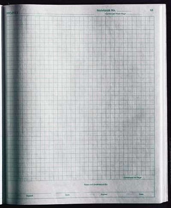 LAB NOTEBOOK 184 PAGES 1/PK