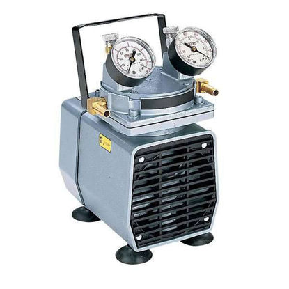 "High-Capacity Vacuum Pump, with Gauge, Regulator, and Relief; 1.0 cfm, 24""Hg, 220 VAC"