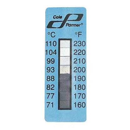 Digi-Sense Irreversible 8-Point Vertical Temperature Label, 160-230F/71-110C; 25/Pk