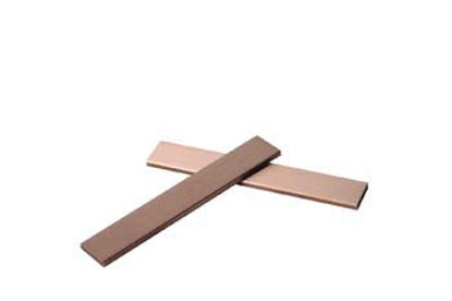 COPPER TEST STRIP, 75 x 12.5 x 2.4mm, with material certificate, pack of 30