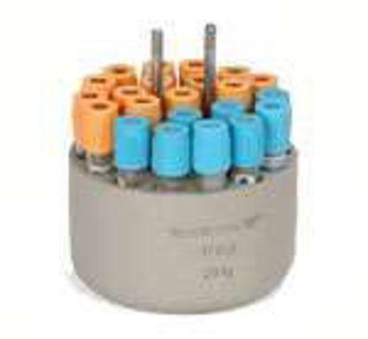 Sigma Round carrier for 22  round bottom tubes 5 - 6 ml, max. Ø 13.5/17.5 x 70 - 90 mm, e.g. no. RIA tubes no. 15060, Vacutainer, hemolyse tubes, 1 set = 2 pcs.