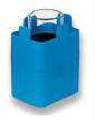 Rectangular carrier for 1 round bottom tube approx. 100 ml, max. Ø 45.5/48 x 85 - 110 mm, e.g.  no. 15078, 15100, 15103, 15106, 1 set = 2 pcs.