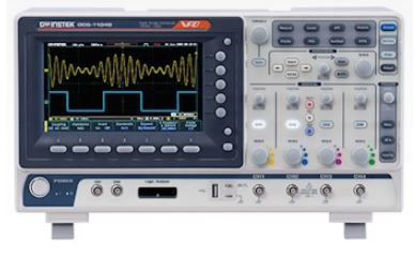 GW Instek GDS-1104B Digital Storage Oscilloscope, 100 MHz, 4 channel, 100-240VAC