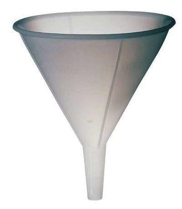High-density polyethylene utility funnel, 64 oz (package of 12)