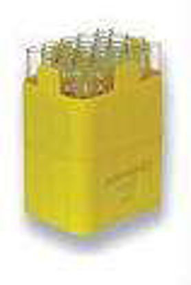 Rectangular carrier for 20 tubes approx. 5 ml, flat and round bottom, max. Ø 12.5 x 60 - 75 mm, e.g.  RIA tube no. 15060, 1 set = 2 pcs.