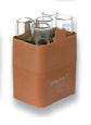 Rectangular carrier for 5  round bottom tubes approx. 25 ml, max. Ø 24 x 85 - 105 mm, e.g. no. 15025, 15026, 15033, 1 set = 2 pcs.