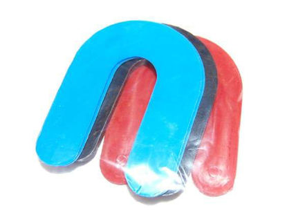 Plastic Horseshoe -3D - optional platform to view raised features