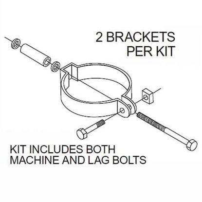 """KIT MOUNTING BRACKET 1""""-1.5"""""""