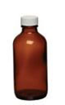 Cole-Parmer Bottle, Amber Boston Round, 250mL, 24/cs
