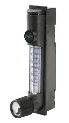 Polycarbonate Flowmeter, 20-300 CCM, Water Stainless Steel, w/ Valve
