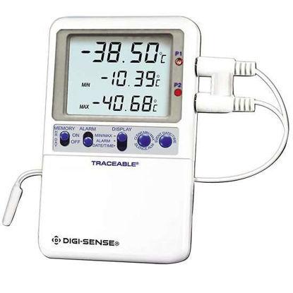 Digi-Sense Calibrated High-Accuracy RTD Digital Thermometer, wire probe