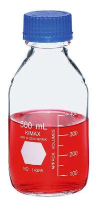 Kimble Glass Media Storage Bottle with Polypropylene (PP) Cap, 2000 mL, 4/Cs