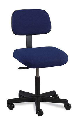 "CHAIR NAVY BLUE FAB 17""-22"""